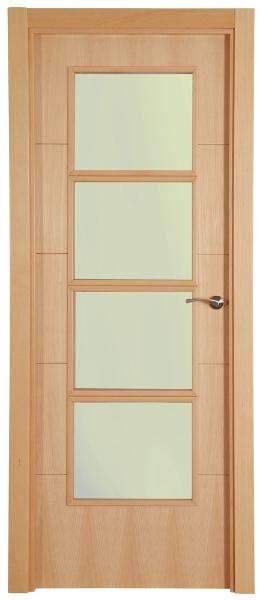 Puertas barnizadas economicas for Puertas blindadas economicas